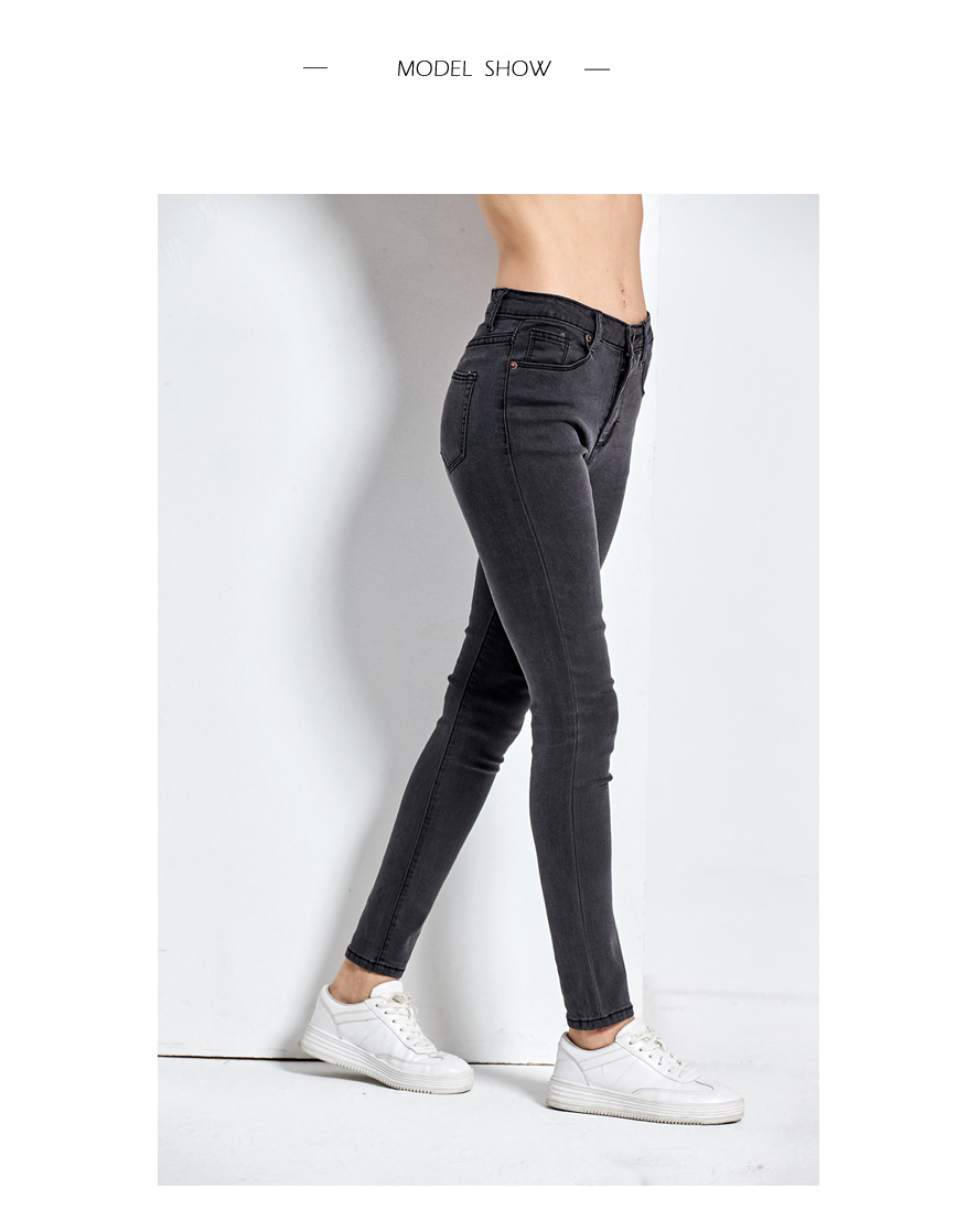 Women's High Waist Jeans Skinny Jeans Woman Plus Size Black Mom Jeans Femme Pencil Denim Pants Vaqueros Mujer Spodnie Damskie 9