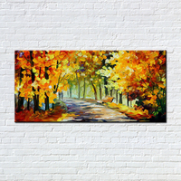Noah Art Hand Painted Modern Palette Knife Colorful Trees Landscape Oil Paintings On Canvas Large Abstract