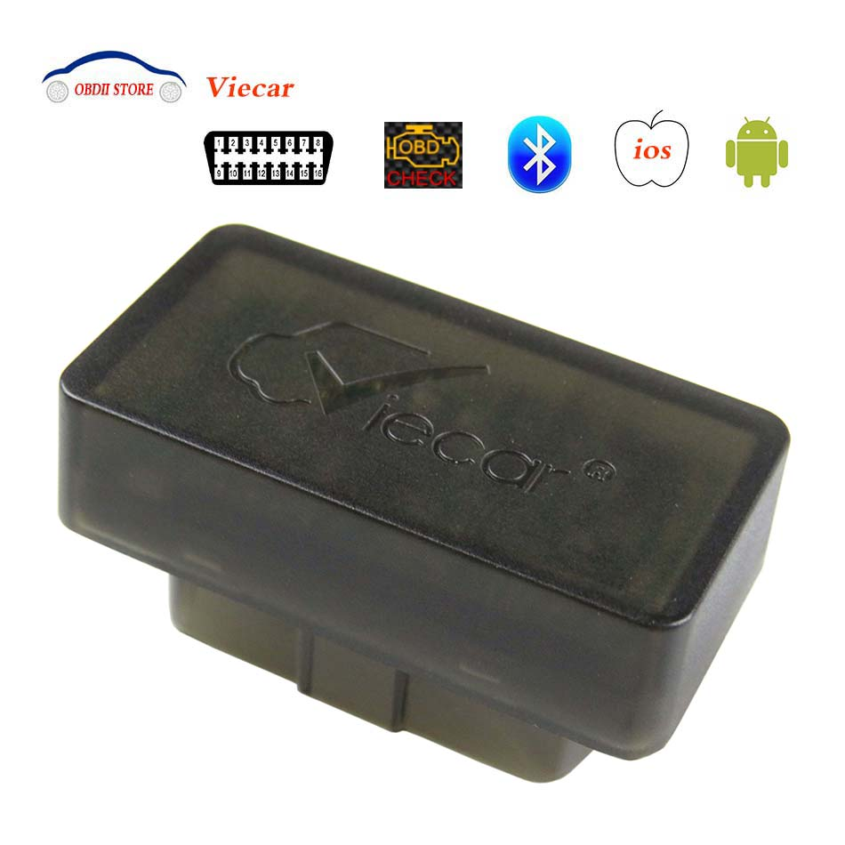 Viecar ELM327 Bluetooth OBD2 Car Diagnostic Tool ELM 327 OBDII Scanner for Android IOS BT 4.0 Adapter obd 2 Code Reader Scanner u480 1 5 lcd universal can bus obd2 car diagnostic code reader memo scanner