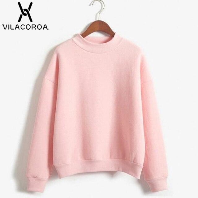9 Colors Winter Solid Color Round Neck Long Sleeve Velvet Warm Sweatshirts Women Korean style Loose Hoodies Female Casual Coat 1