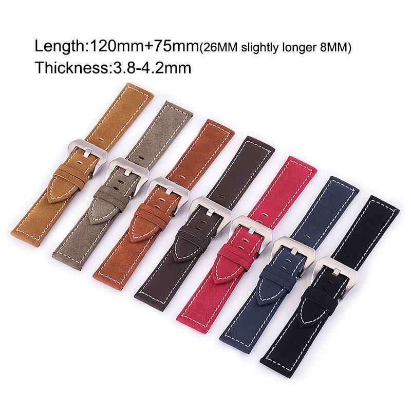 UTHAI P12 20mm Watch Strap Genuine 22mm Watch Band 18-24mm Watch Accessories High Quality 22mm Leather Watch Strap Watchbands