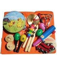 Wooden Music Child Toy Musical Instrument Set 11 Piece per set toy Musical Instruments Set