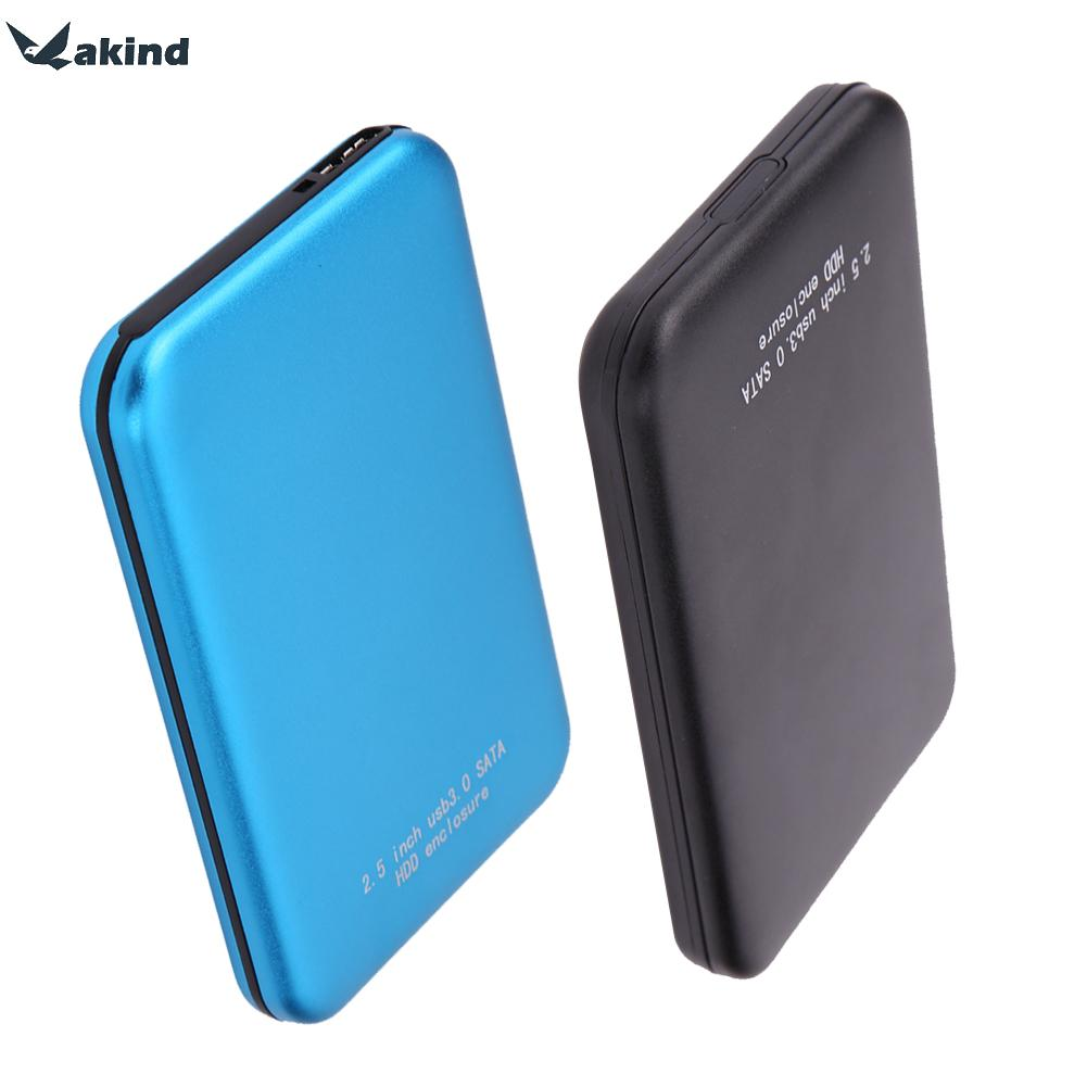High Speed 2.5 Inch Aluminium USB3.0 to SATA External HDD HD Hard Disk Drive Enclosure Case Cover Box Bag Up to 3TB Black Blue wireless external hard disk box 2 5 3 5 inch usb 3 sd tf enclosure to sata case 6tb adapter hdd ssd with wifi network