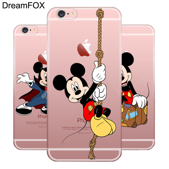 DREAMFOX M117 Mickey Mouse Soft TPU Silicone  Case Cover For Apple iPhone X XR XS Max 8 7 6 6S Plus 5 5S SE 5C 4 4S