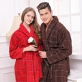Cotton bathrobe women men nightgown  sleepwear for girls towel blanket towel robe thickening lovers long soft plus size winter