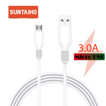 Suntaiho 1m 2m Micro USB Cable for Xiaomi Redmi Note 5 Pro 4 Reversible Micro USB Charger Data Cable for Samsung S7 Mobile Phone(China)