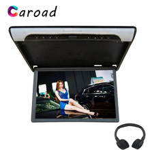 Caroad 19 אינץ 1080P HD וידאו להעיף את הר צג MP5 תמיכת נגן USB SD HDMI Sperker IR FM משדר