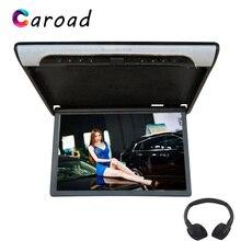 Caroad 19 Polegada 1080p hd vídeo telhado do carro flip para baixo montagem monitor mp5 player suporte usb sd hdmi sperker ir transmissor fm
