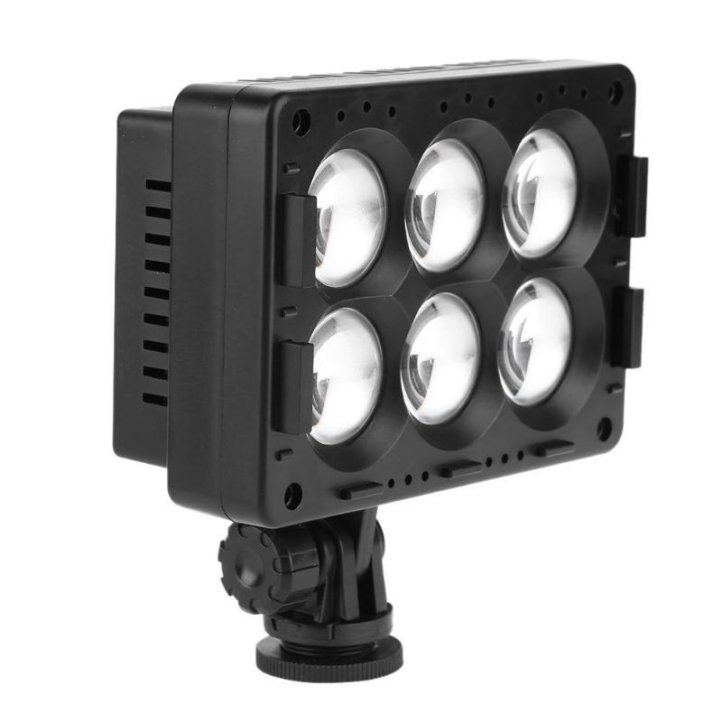 Lumière vidéo de T6-C 1300LM 6 LED électrodeless gradation photographie remplir la lumière caméra vidéo hotboot LED éclairage pour Studio de caméra