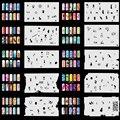 OPHIR Set9 200 Конструкций Аэрограф Ногтей Трафареты 20x Шаблон листов Аэрограф Ногтей Краска Ногтей Инструменты Наклейки и Decals_JFH9