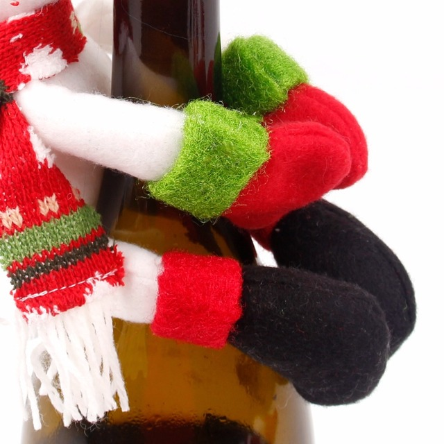 Christmas Themed Wine Bottle Cover