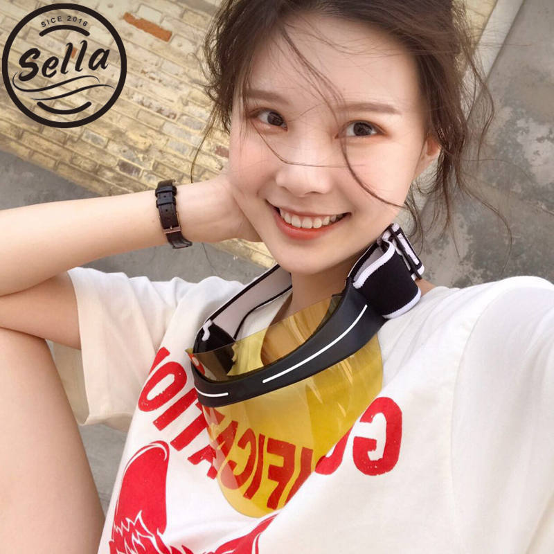 Sella New Fashion Men Women Sun Visor Hat Brand Designer Hot Sale Colorful Sunglasses Trending Ladies Elastic Hat UV Protection