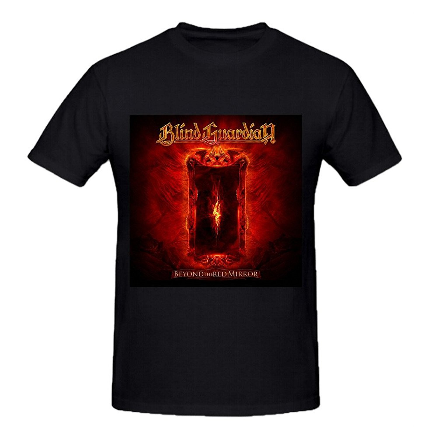 BLIND GUARDIAN BEYOND THE RED MIRROR HEAVY METAL GRAVE DIGGER NEW BLACK T-SHIRT T Shirt for Men O-Neck Tops Male Top Tee