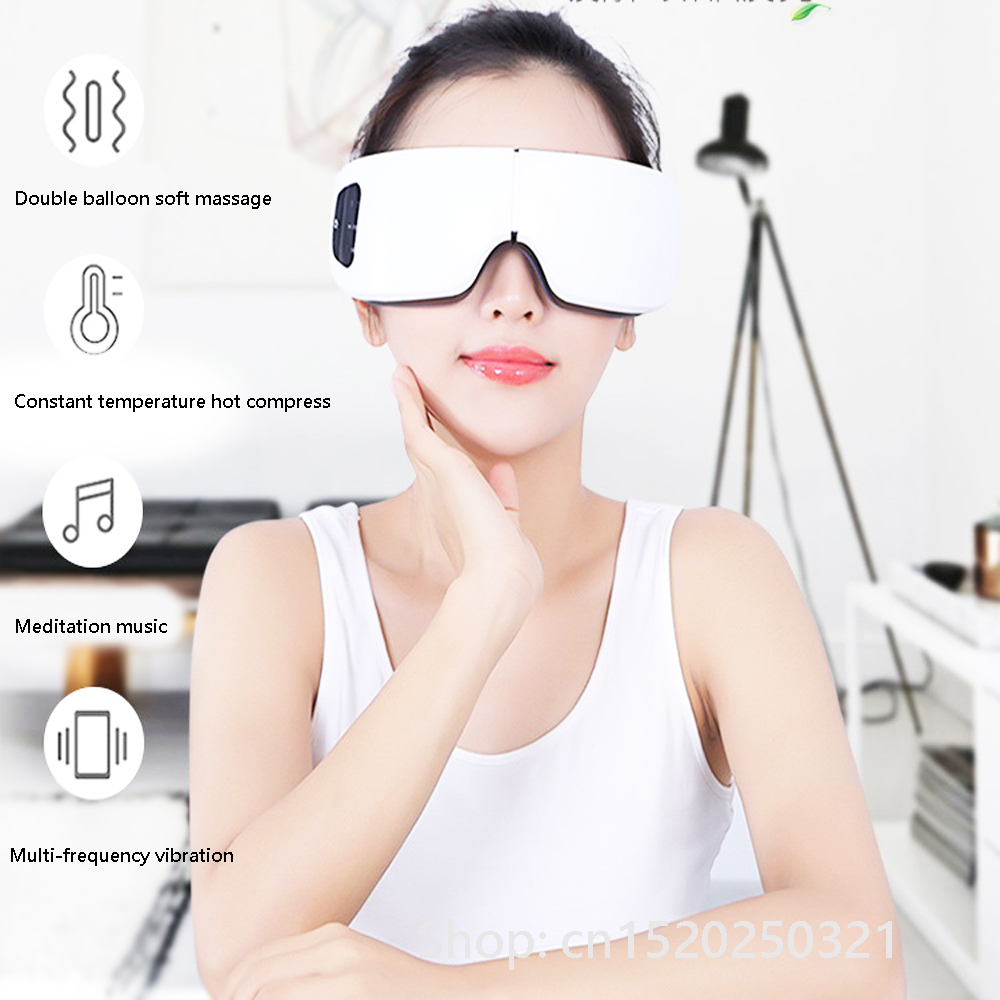 New wireless 4D electric DC vibration eye massager hot compress pressure eye care device relieve eye fatigue protection vision цена