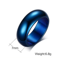 Blue Titanium Steel Rings
