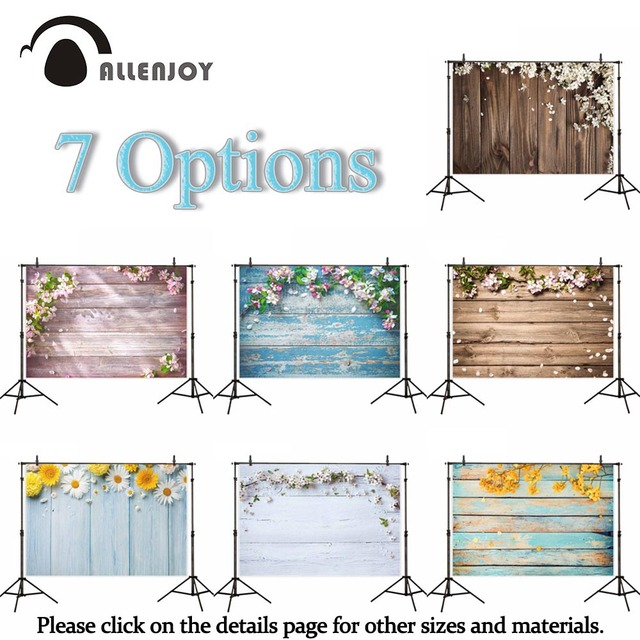 Allenjoy photography backdrop small size Easter spring wood flower floor vinyl photo background studio photophone photocall new