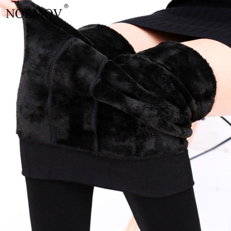 NORMOV S-3XL Plus Size Inverno Caldo Delle Ghette Delle Donne Pantaloni di Velluto Caldo Leggins A Vita Alta Legging di Spessore Inverno Pantaloni della Mutanda Delle Donne