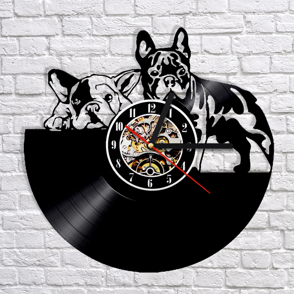 Beautiful Dog Wall Clock Modern Design Vintage Retro Clocks Black Hollow Decorative  3D Stickers Animal Wall Watch Home Decor Silent In Wall Clocks From Home U0026  Garden ...