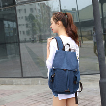 Canvas backpack high school men and women bag casual student shopping popular