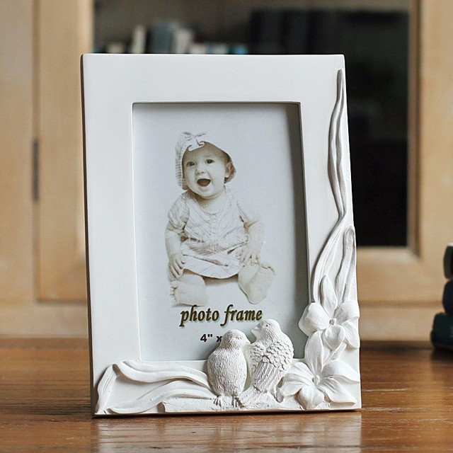 6inch Resin Wedding Photo Frame Cute Double Birds Picture Frames ...