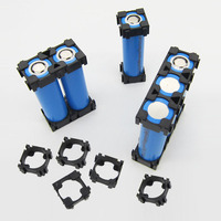 20pcs 18650 Lithium Battery Combination Holder Buckle Battery Pack Holder Cylindrical Li-ion Cell Fixture Bracket Part 1P 18.5MM
