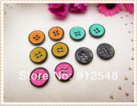 5 Color Mix Free Shipping 50 Pcs 15mm Resin Button Wholesale Children S Clothes Button Accessories