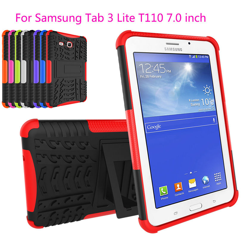 Aliexpress Com 2 In 1 Heavy Duty Rubber Hard Case For Samsung Galaxy Tab 3 Lite 7 0 T110 Cases Funda Armor Cover T111 T116 From