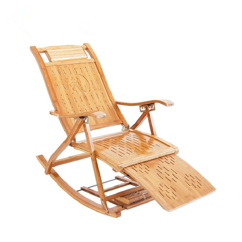 Aliexpress Buy Modern Bamboo Rocking Chair Recliner with – Ottoman Rocking Chair