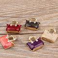 MRHUANG Öl Tropfen Charms 10 teile/los Mode Tasche Gold-Farbe Emaille Charms Modeschmuck Zubehör