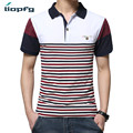5XL Men POLO 2017 Summer New Striped Men POLO High Quality Fabric Slim Fashion Short Sleeve Pullover  Summer Breathable MK662