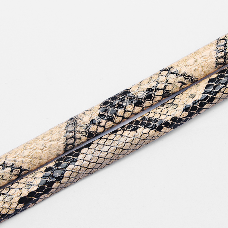 1meter Fashion Snakeskin Licorice Leather Cord 10*6mm for Necklace Bracelet Jewelry Making Cord DIY Bijoux Findings Accessories