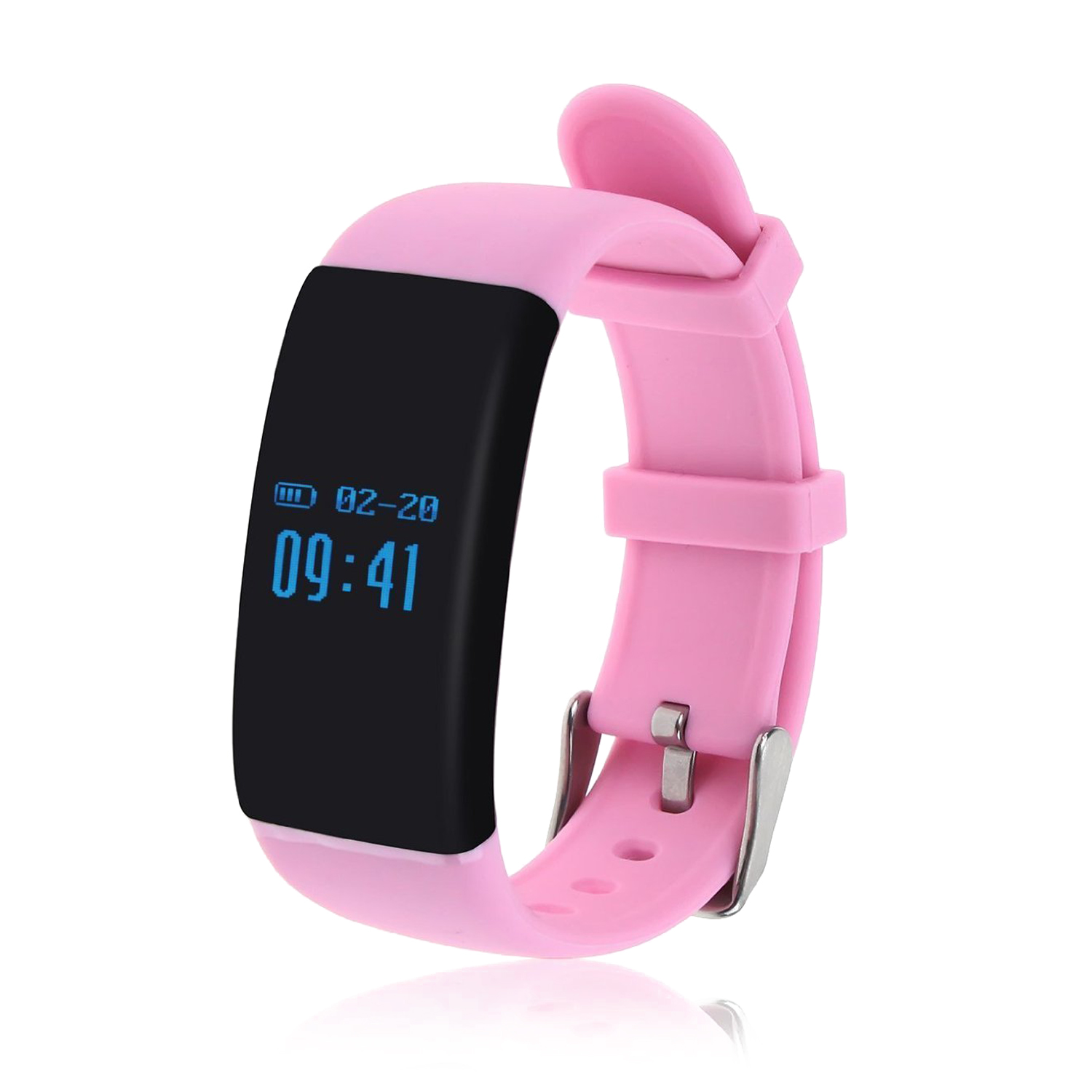 EDT-D21 Fitness Tracker,Touch Screen Accurate Sleeping Monitor Pedometer Smart Band Wireless Activity Wristband (Pink)