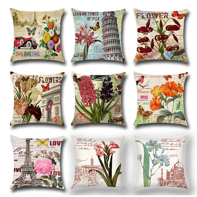 throw less pillows linen cotton accent covers vintage overstock garden flower type home pillow cover for decor subcat birds