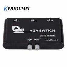 Kebidumei 2 в 1 выход VGA/SVGA руководство деления селектор переключатель коробка для ЖК-ПК