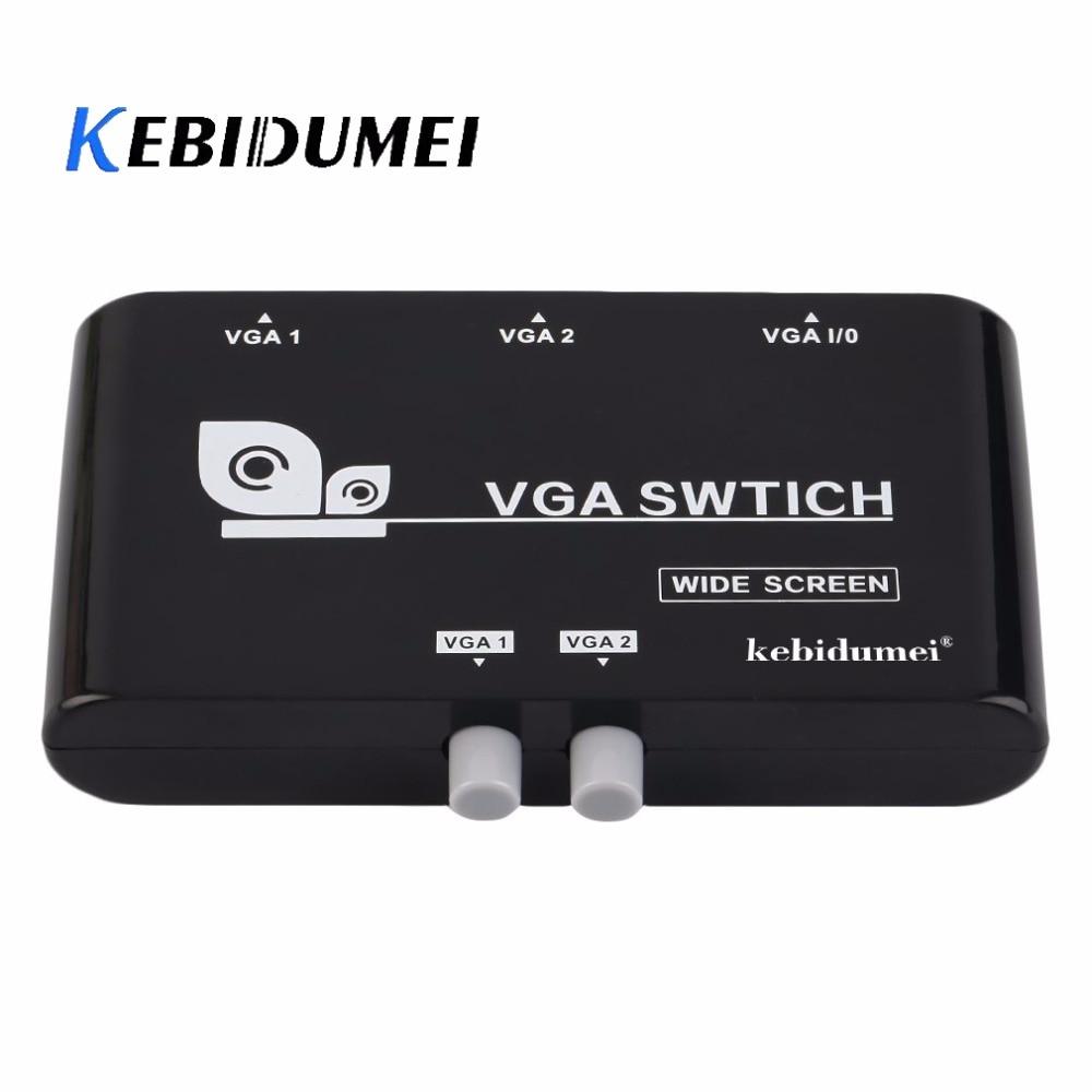 Haben Sie Einen Fragenden Verstand Kebidumei Neue 2 In 1 Heraus Vga/svga Manuelle Sharing Selector Switch Box Switcher Für Lcd Pc Computer & Büro Kvm-switches