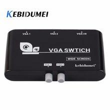 Kebidumei Nuovo 2 In 1 Out VGA/SVGA Condivisione Manuale Selettore Switcher Box Per LCD PC