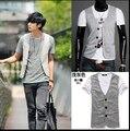 Мужской трикотаж жилет моды для мужчин случайный пиджак жилеты