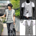 Male knitted vest fashion men casual blazer vests