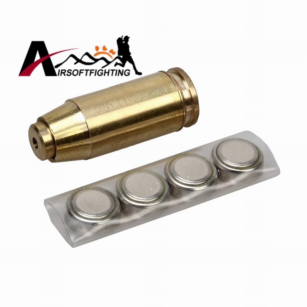 40 ACP Cartucho Visible Red Dot Laser Bore Sight Alcances Herramientas Tactical