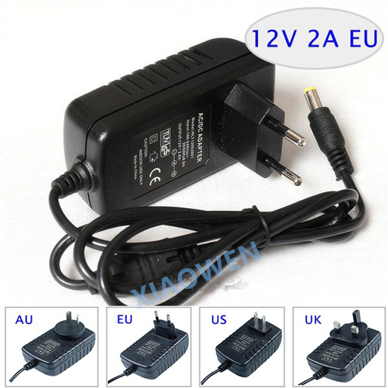 NEW 12V2A AC 100V-240V Converter <font><b>Adapter</b></font> DC <font><b>12V</b></font> 2A <font><b>2000mA</b></font> <font><b>Power</b></font> Supply EU Plug 5.5mm x 2.1mm for LED CCTV image
