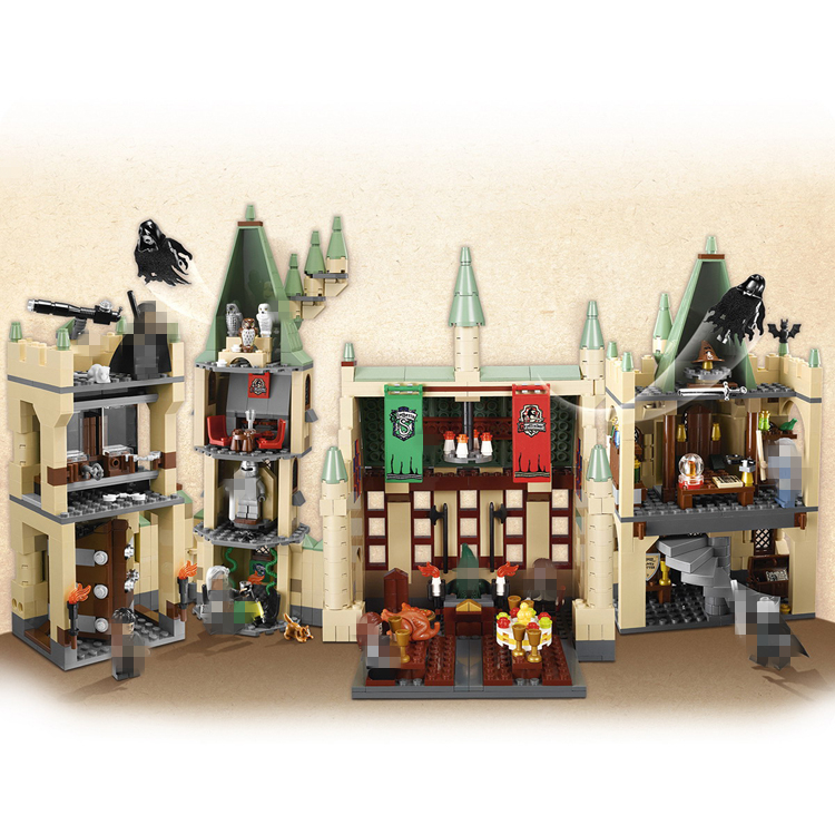 The Harry Potter Hogwart's Castle Building Blocks Lepin 16030 Movie Series Educational Bricks Toys Compatible 4842 harry potter ollivanders dumbledore the elder wand in box prop replica