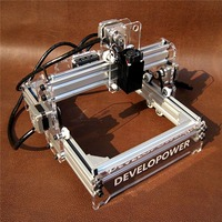 New DIY 2000MW A5 17x20cm Laser Engraver Cutting Machine Desktop Engraving CNC Printer DIY Desktop Wood Cutter + Laser Goggles