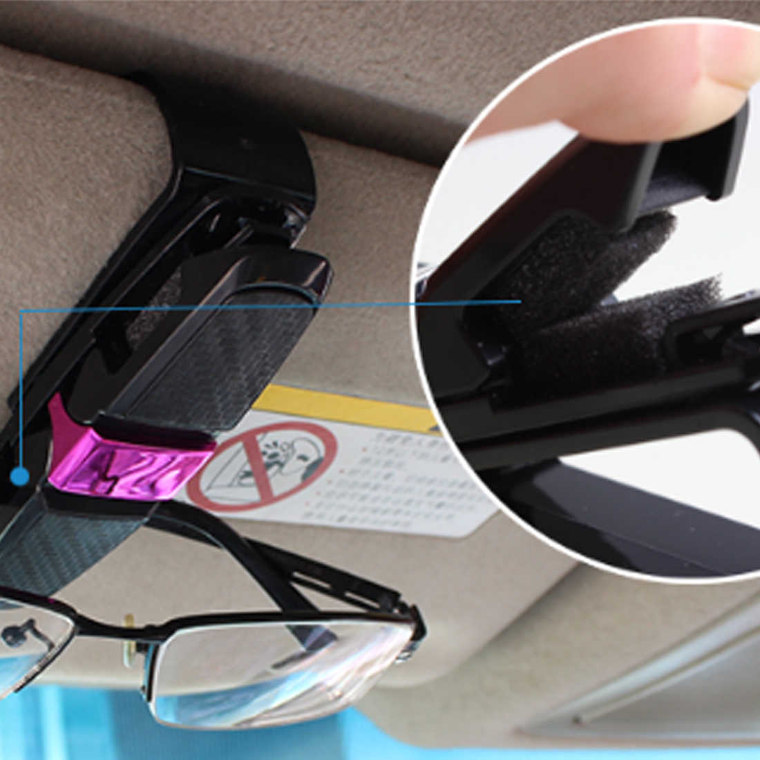 c910f72b78e ... Dewtreetali Universal Car Auto Sun Visor Clip Holder For Reading  Glasses Sunglasses Eyeglass Card Pen Sunglass ...