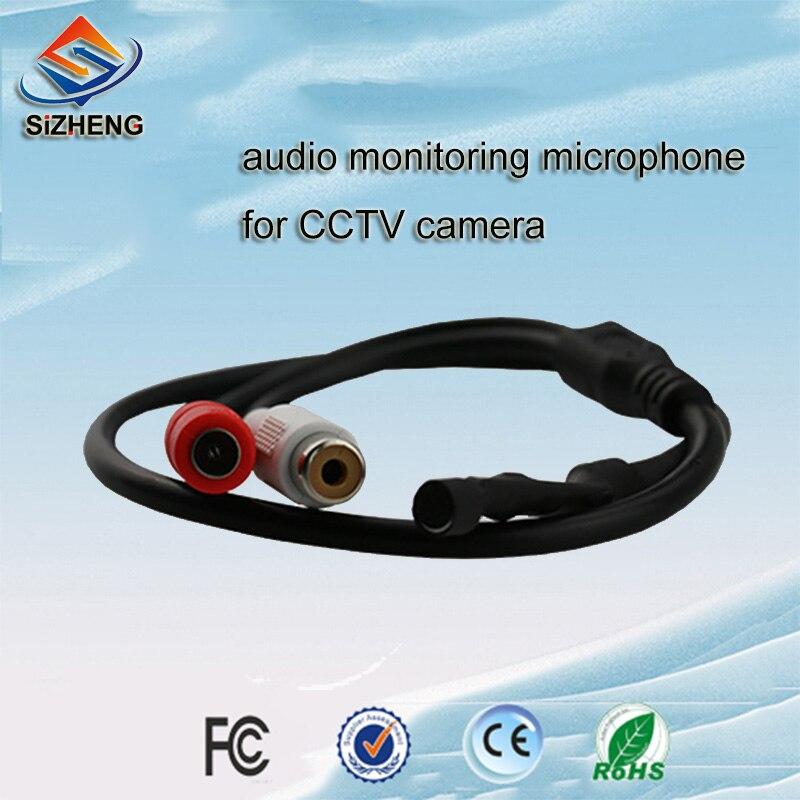 SIZHENG SIZ 110 5Pcs lot CCTV microphone audio pickups sound monitor sensitivity 60dB for security camera in CCTV Microphone from Security Protection