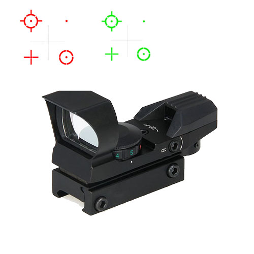 ppt tatico 1x ampliacao 4 reticle mini verde red dot scope para caca tiro hs2 0095