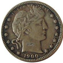 Дата 1900 1900-O 1900-S 1901 1901-O 1901-S 1902 1902-O США четверть доллара Барбера долларовые монеты КОПИЯ