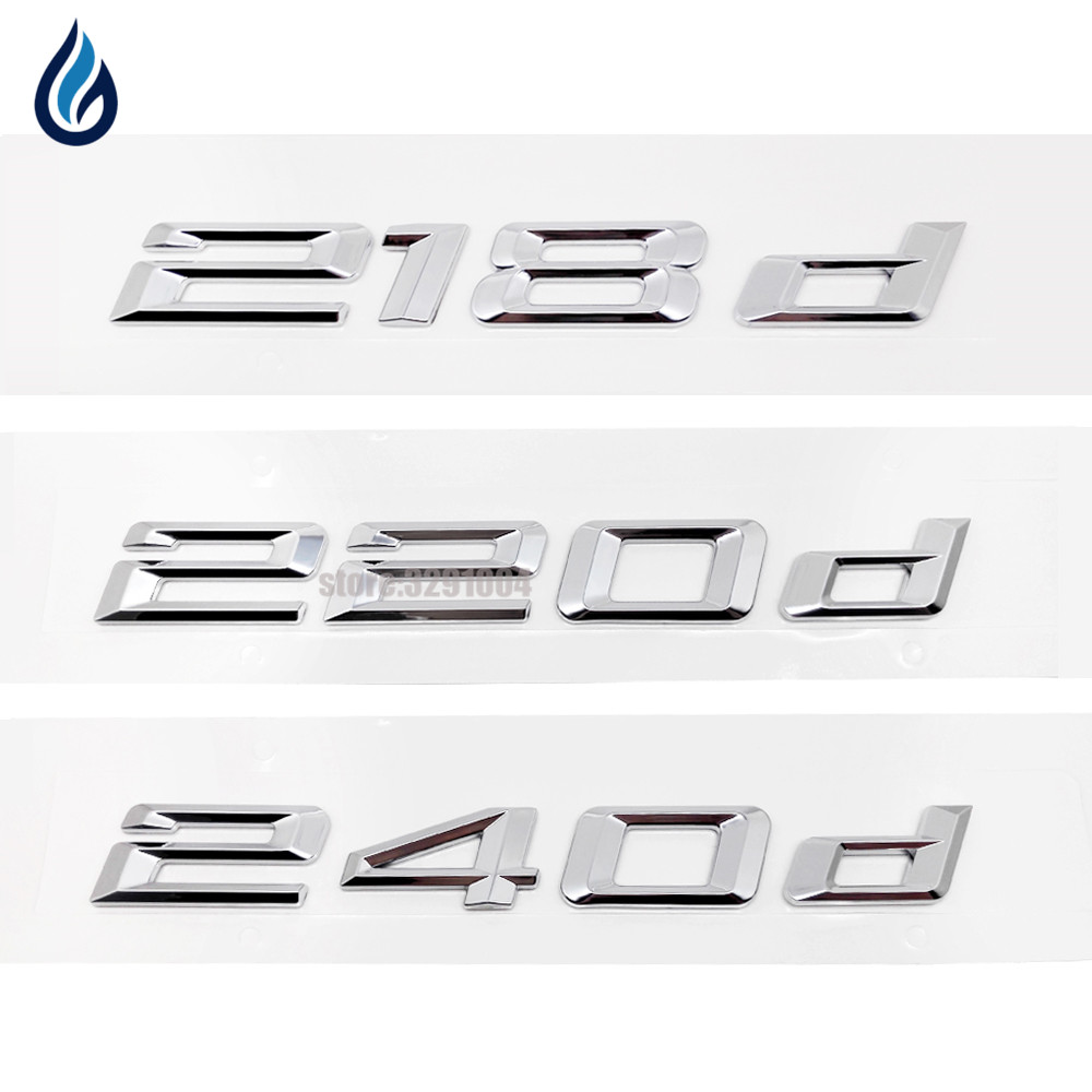 For Bmw Performance Sticker 218d 220d 240d Car Rear Boot Logos Badge Emblem Decal for BMW 2 Series Tourer F22 F45 F23 auto chrome camaro letters for 1968 1969 camaro emblem badge sticker