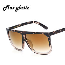 2017 Sun Glasses For Women Brand Designer Fashion Luxury Oversized Vintage Sunglasses Sqaure Sunglass Retro Female Flat eyewear