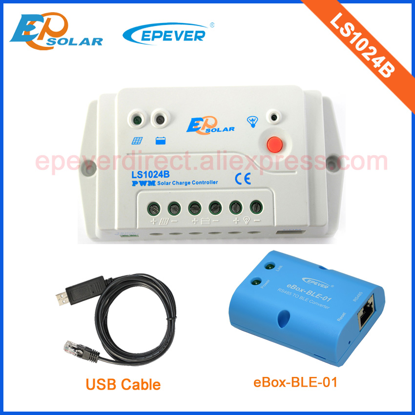LS1024B New PWM Solar regulator 10A PC USB cable 12V/24V battery Charger power bank EPEVER bluetooth Phone APP Android systemLS1024B New PWM Solar regulator 10A PC USB cable 12V/24V battery Charger power bank EPEVER bluetooth Phone APP Android system
