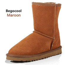 Begocool Brand Classic Australia Boots Winter Boots Fur Leather Ankle Boots Winter Warm Women Snow Boots size 4-13